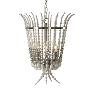 Aidan Gray Home Torch Silver Chandelier - Rustic White