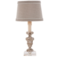 Aidan Gray Home Trento Architectural Relic Table Lamp - Antique Aged Wood/Gesso - Pair