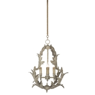 Aidan Gray Home Trieste Small Chandelier - White - Metal L456S CHAN