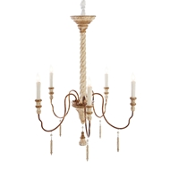 Aidan Gray Home Yolonda Chandelier Medium - White