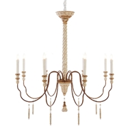 Aidan Gray Home Yolonda Large Chandelier - White