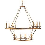 Aidan Gray Lighting Callum Two-Tier Chandelier - Gold - Metal L424 DBL CHAN