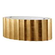 Aidan Gray Home Emmeline Gold Coffee Table - Gold - White Birch F119 GLD