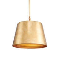 Aidan Gray Lighting Gold Nolan Drum Chandelier - Gold - Metal L717 GLD CHAN HOM