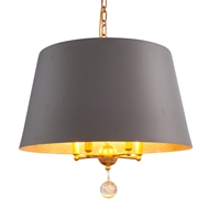 Aidan Gray Lighting Gray Nolan Drum Chandelier - Gray - Metal L717 GRY CHAN HOM