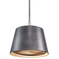 Aidan Gray Lighting Gun Metal Nolan Drum Chandelier - Gun Metal - Metal L717 GM CHAN HOM