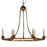 Aidan Gray Lighting Harry Chandelier - Gold Leaf - Metal L427 CHAN