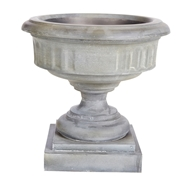 Aidan Gray Home Cranbrook Medium Urn - Weathered Zinc - Iron- Sheet G121M