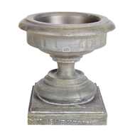 Aidan Gray Home Cranbrook Small Urn - Weathered Zinc - Iron- Sheet G121S