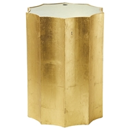 Aidan Gray Home Emmeline Gold Side Table - Gold Leaf - Wood F118 GLD