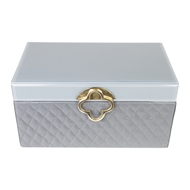 Aidan Gray Home Large Marge Jewelry Box - Gray - Faux Leather D619