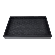 Aidan Gray Home Riley Tray - Black - Faux Leather D522