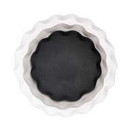 Aidan Gray Home Round Scalloped Tray Set - Black, Gray, White - Metal D518 SET
