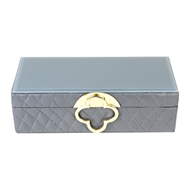 Aidan Gray Home Small Marge Jewelry Box - Gray - Faux Leather D620