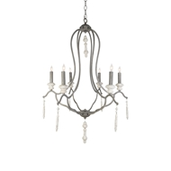 Aidan Gray Lighting Fresco Chandelier - Aged Gray & Distressed White - Metal L324 CHAN