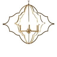 Aidan Gray Lighting Prosperity Chandelier - Gold - Metal L921 CHAN
