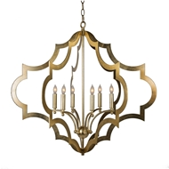 Aidan Gray Lighting Tetrad Large Chandelier - Gold - Metal L924L CHAN