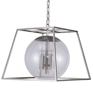 Aidan Gray Lighting Lincoln Nickel Chandelier - Nickel L909 NKL CHAN HOM