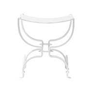 Aidan Gray Home Swain Bench High Gloss White - High Gloss White - Metal CH135 WHT