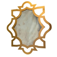 Aidan Gray Wall Decor Conner Small Mirror - Gold Leaf - Iron DM110S