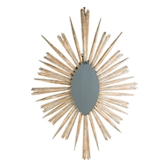 Aidan Gray Wall Decor Soleil Mirror - Antiuqe Gold Leaf - Rubber Wood DM111