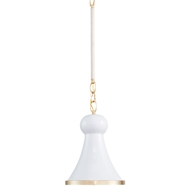 Aidan Gray Lighting White Hugo Pendant - White - Metal L718 WHT PEN HOM
