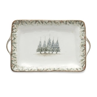 Arte Italica Home Natale Large Rectangular Tray