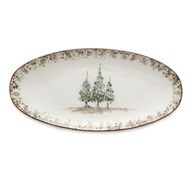 Arte Italica Home Natale Long Oval Platter - Set of 2