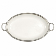 Arte Italica Home Tuscan Oval Tray with Handles