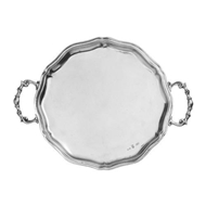 Arte Italica Home Vintage Scalloped Tray with Handles