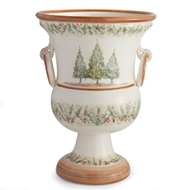 Arte Italica Natale Footed Planter