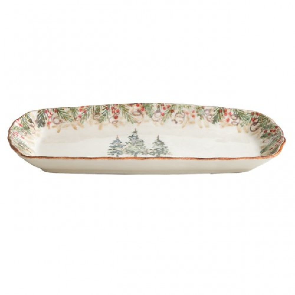 Arte Italica Home Natale Rectangular Tray NAT2120