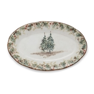 Arte Italica Natale Small Oval Tray - Set of 2