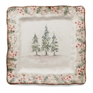 Arte Italica Natale Square Plate - Set of 4