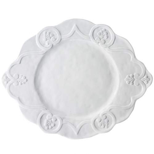 price arte italica home bella bianca scalloped charger set of 2 - Arte Italica