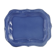 Arte Italica Home Burano Glass Small Blue Tray