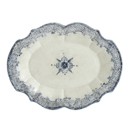 Arte Italica Home Burano Oval Scalloped Platter