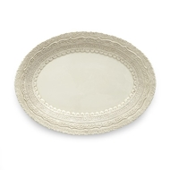 Arte Italica Finezza Cream Small Oval Platter