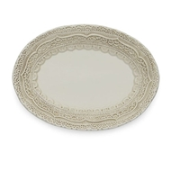 Arte Italica Finezza Cream Small Oval Tray