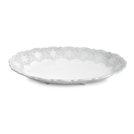 Arte Italica Merletto White Oval Footed Bowl