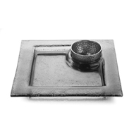 Arte Italica Home Notturno Square Platter with Bowl