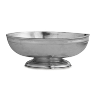 Arte Italica Home Peltro Footed Oval Bowl