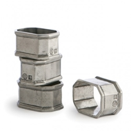 Arte Italica Peltro Napkin Ring Set of 4