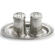 Arte Italica Tavola Small Salt & Pepper with Tray