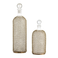 Arteriors Home Drexel Decanters Set of 2 2614 Glass