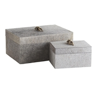 Arteriors Home Lola Rectangular Boxes Set of 2 4507 Hide
