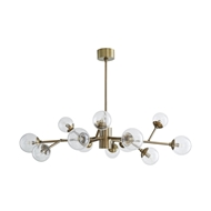 Arteriors Lighting Dallas Small Chandelier 89455 Brass