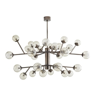 Arteriors Lighting Dallas Two Tiered Chandelier 89462 Steel