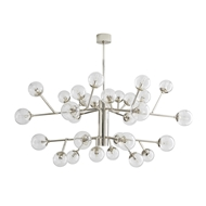 Arteriors Lighting Dallas Two Tiered Chandelier 89464 Steel