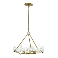 Arteriors Lighting Dove Small Chandelier DK89955 Steel